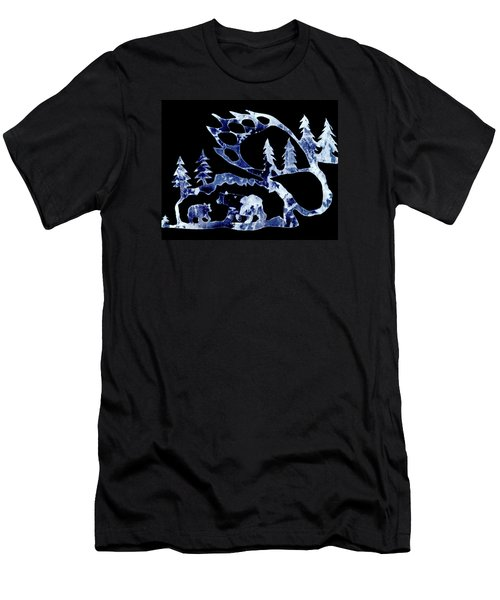 Men's T-Shirt (Slim Fit) featuring the photograph Ice Bears 1 by Larry Campbell