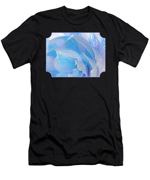 Ice Blue Amaryllis Abstract Men's T-Shirt (Athletic Fit)