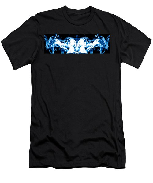 Ice Blue Men's T-Shirt (Slim Fit) by Sumit Mehndiratta
