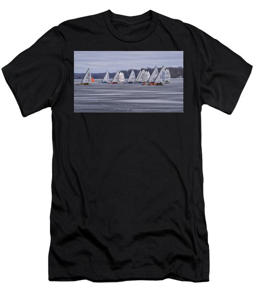 Ice Boat Racing - Madison - Wisconsin Men's T-Shirt (Athletic Fit)