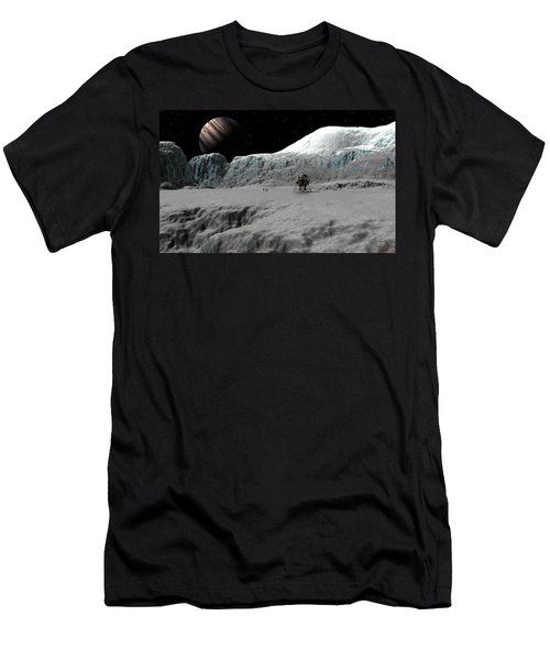 Ice Cliffs Of Europa Men's T-Shirt (Athletic Fit)