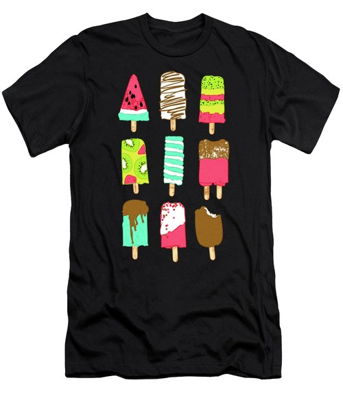 Ice Cream Time Men's T-Shirt (Athletic Fit)