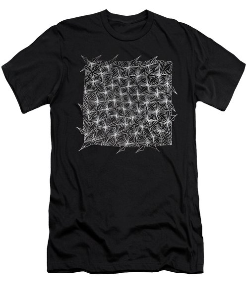 Ice Crystal Abstract  Men's T-Shirt (Athletic Fit)