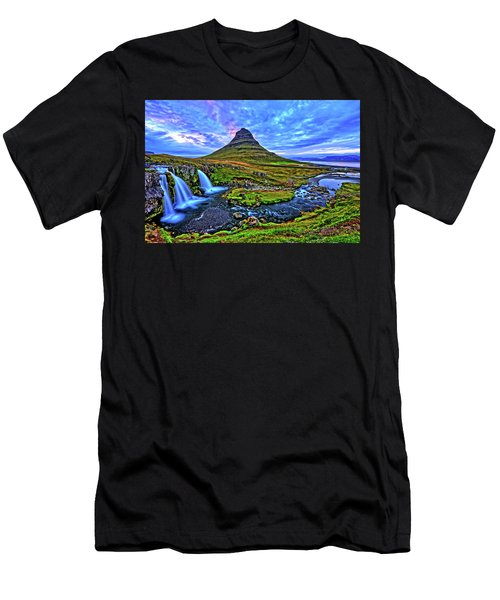 Men's T-Shirt (Slim Fit) featuring the photograph Ice Falls by Scott Mahon