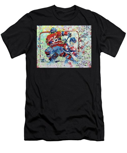 Ice Hockey No1 Men's T-Shirt (Athletic Fit)