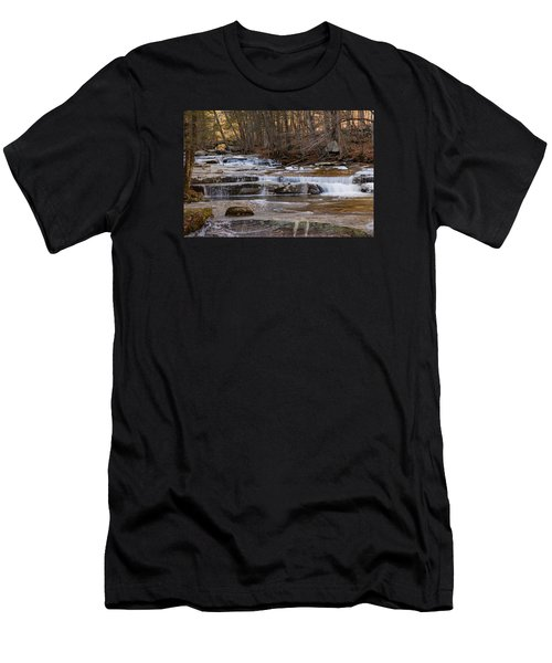 Ice On Fall Stream Men's T-Shirt (Athletic Fit)