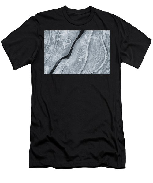 Ice Pattern Men's T-Shirt (Athletic Fit)