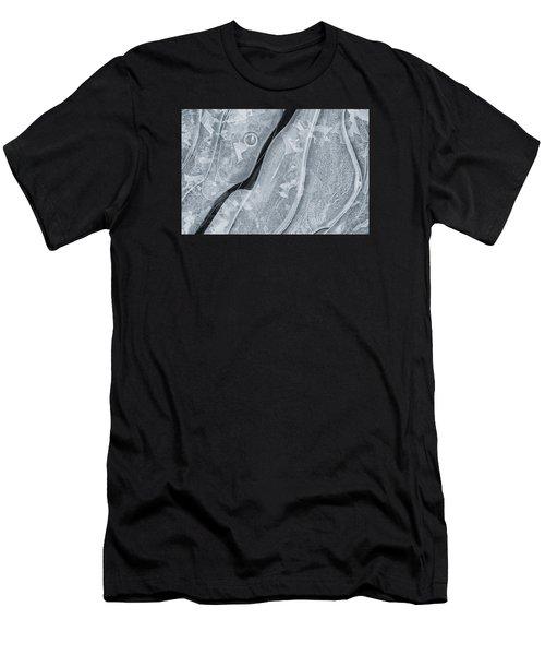Ice Pattern Men's T-Shirt (Athletic Fit)