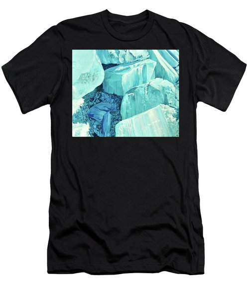 Ice Pushed Up On A Lake Men's T-Shirt (Athletic Fit)