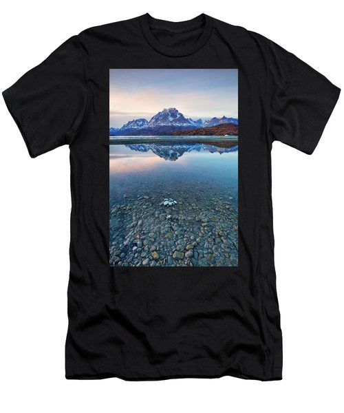 Icebergs And Mountains Of Torres Del Paine National Park Men's T-Shirt (Athletic Fit)