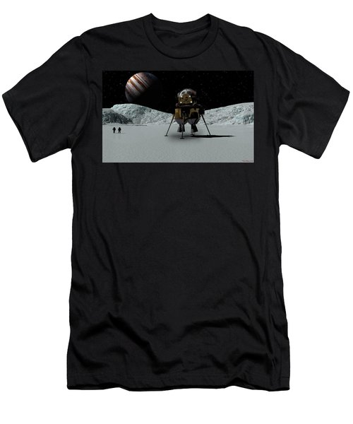 Men's T-Shirt (Slim Fit) featuring the digital art Icefield Landing by David Robinson