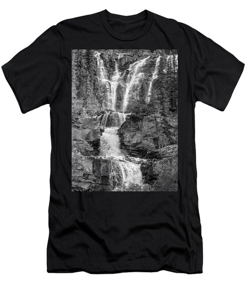 Icefields Waterfall Men's T-Shirt (Athletic Fit)