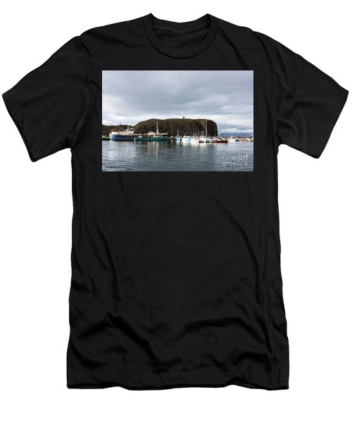 Iceland Fisherman Harbor Men's T-Shirt (Athletic Fit)