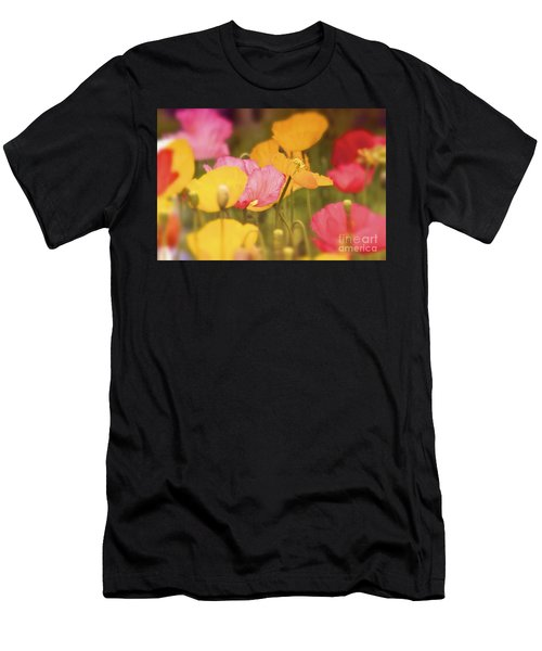Iceland Poppies Warmly Men's T-Shirt (Athletic Fit)