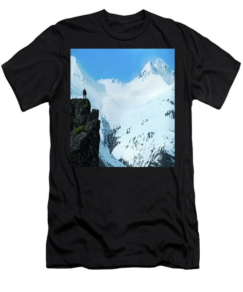 Iceland Snow Covered Mountains Men's T-Shirt (Athletic Fit)