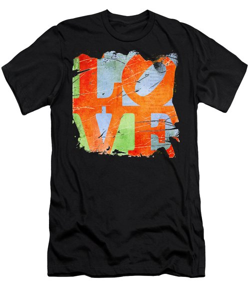 Iconic Love - Grunge Men's T-Shirt (Athletic Fit)