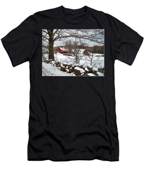 Iconic New Hampshire Men's T-Shirt (Slim Fit) by Betsy Zimmerli