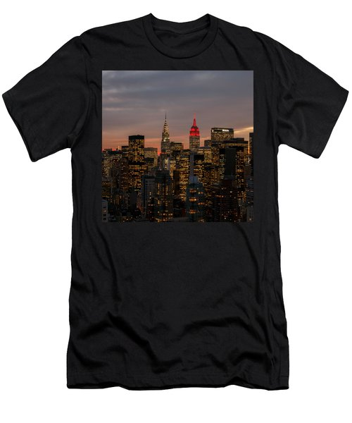 Men's T-Shirt (Slim Fit) featuring the photograph Icons Of Nyc by Anthony Fields