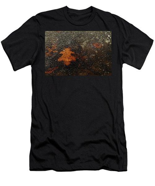 Icy Leaf Men's T-Shirt (Slim Fit) by Michael McGowan