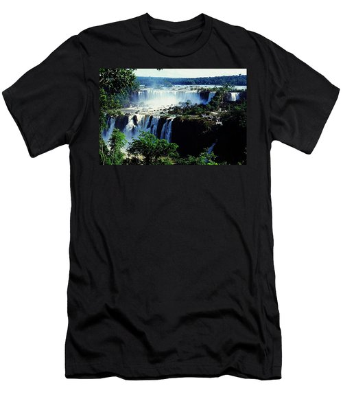 Iguacu Waterfalls Men's T-Shirt (Athletic Fit)