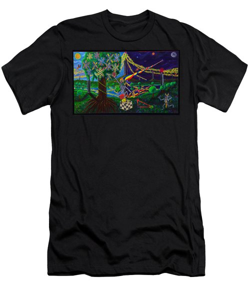 Men's T-Shirt (Athletic Fit) featuring the painting Il Paradiso Il Modello Della Genesi by Rufus J Jhonson