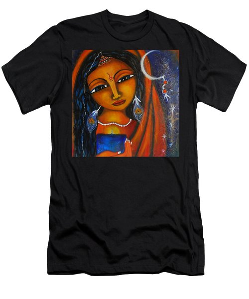 Men's T-Shirt (Slim Fit) featuring the painting Illuminate by Prerna Poojara