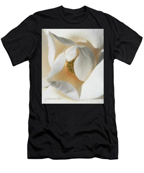Illuminated Magnolia Macro Men's T-Shirt (Athletic Fit)