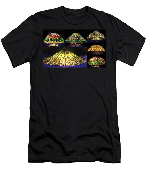 Illuminated Tiffany Lamps - A Collage Men's T-Shirt (Athletic Fit)