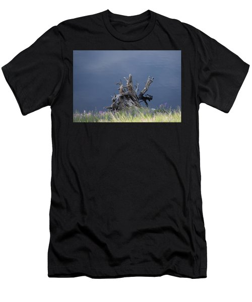 Men's T-Shirt (Athletic Fit) featuring the photograph Stump Chambers Lake Hwy 14 Co by Margarethe Binkley