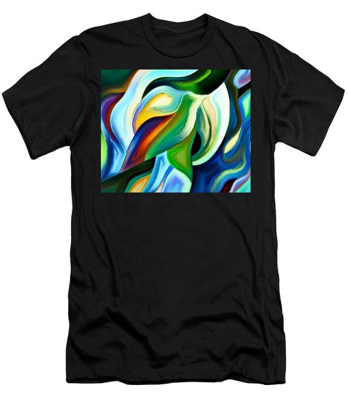 Men's T-Shirt (Slim Fit) featuring the painting Imagination by Karen Showell