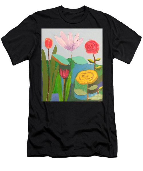 Imagined Flowers One Men's T-Shirt (Athletic Fit)