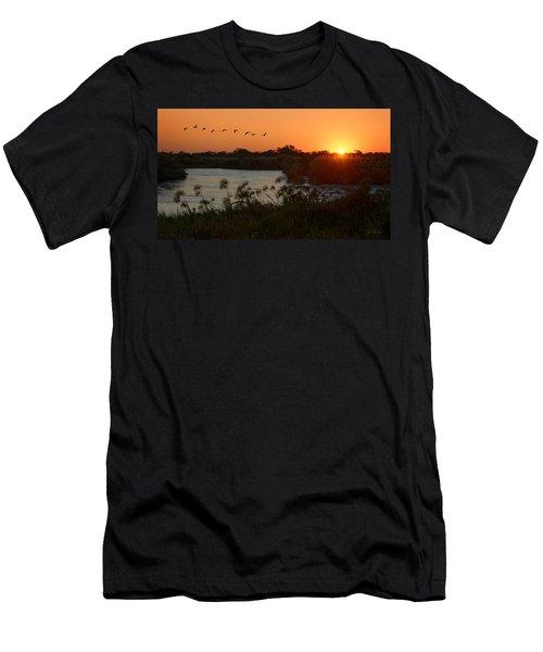 Impalila Island Sunrise Men's T-Shirt (Athletic Fit)
