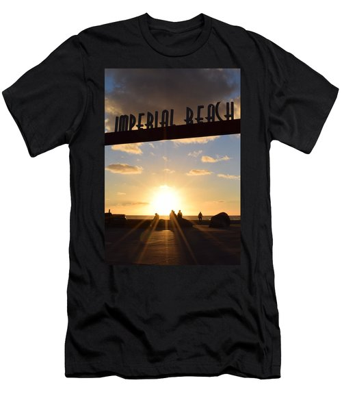 Imperial Beach At Sunset Men's T-Shirt (Slim Fit) by Karen J Shine