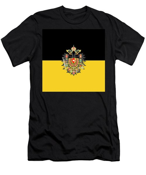 Habsburg Flag With Imperial Coat Of Arms 1 Men's T-Shirt (Athletic Fit)
