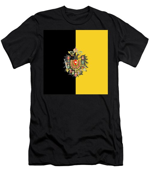 Habsburg Flag With Imperial Coat Of Arms 2 Men's T-Shirt (Athletic Fit)