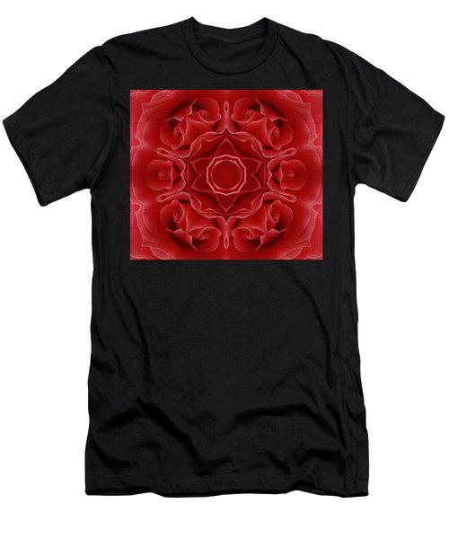 Imperial Red Rose Mandala Men's T-Shirt (Athletic Fit)
