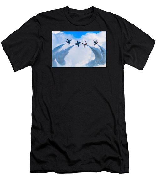 Men's T-Shirt (Athletic Fit) featuring the photograph Implode by Ray Shiu