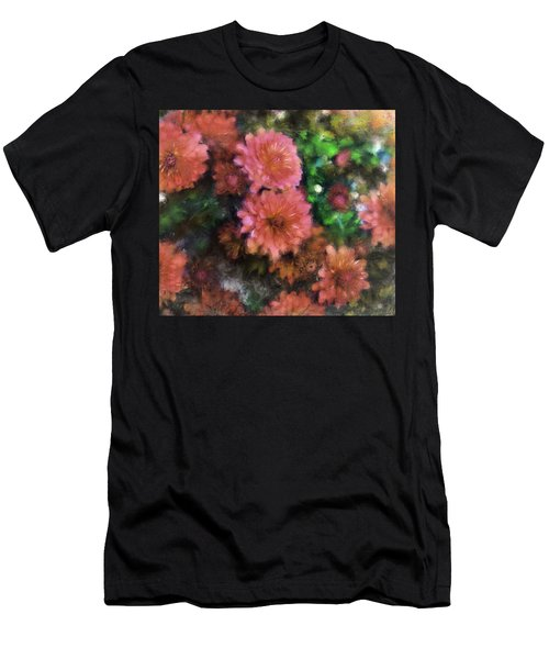 Bronze And Pink Mums Men's T-Shirt (Athletic Fit)