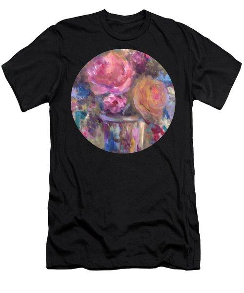 Impressionist Floral Art Men's T-Shirt (Athletic Fit)