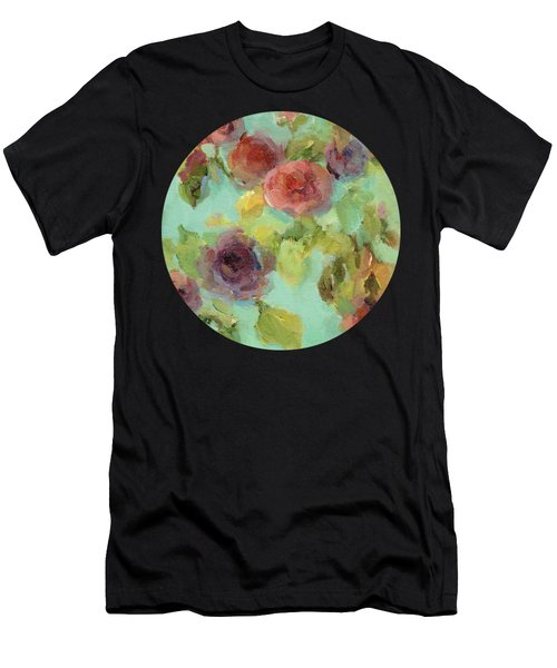 Impressionist Floral  Men's T-Shirt (Athletic Fit)