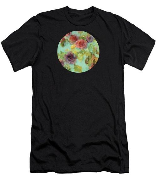 Impressionist Floral  Men's T-Shirt (Athletic Fit)