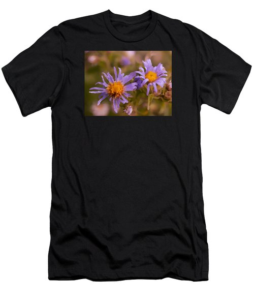 Impressionistic Asters Men's T-Shirt (Athletic Fit)