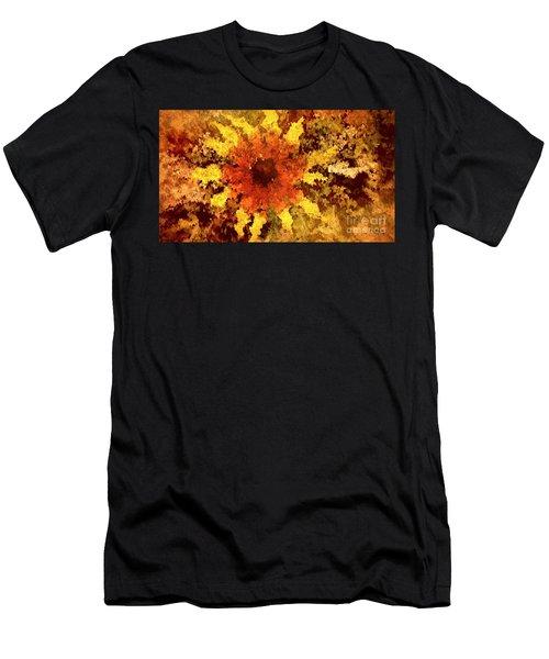 Impressionistic Petals Men's T-Shirt (Athletic Fit)