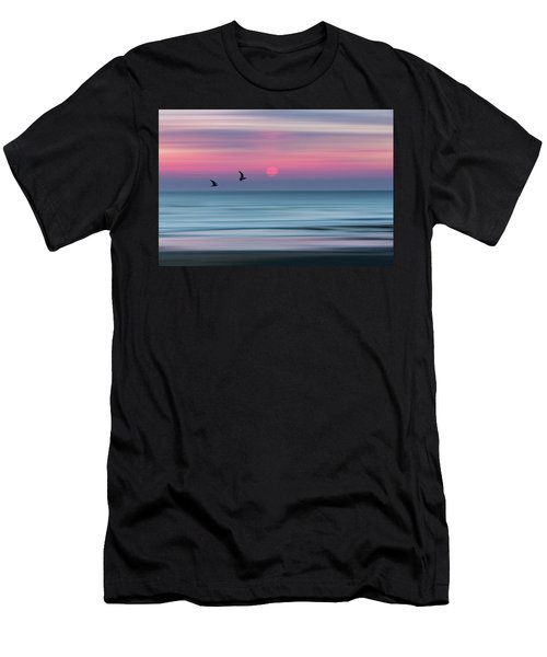 Impressionistic Sunset At Widemouth Bay, Bude, Cornwall, Uk.  Men's T-Shirt (Athletic Fit)