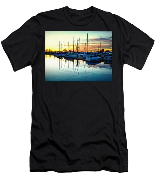 Impressions Of A San Diego Marina Men's T-Shirt (Athletic Fit)