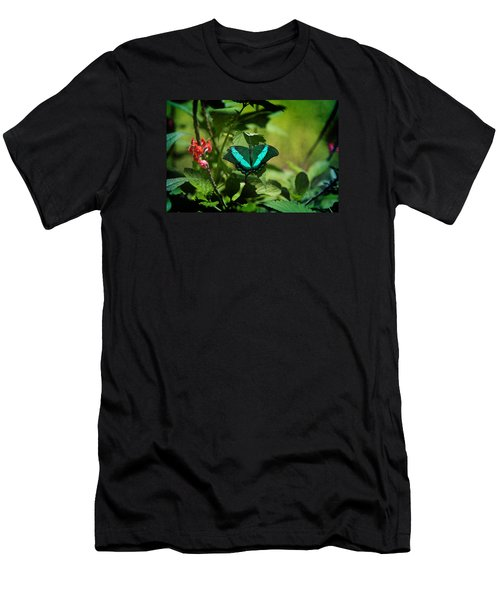 In A Butterfly World Men's T-Shirt (Slim Fit) by Milena Ilieva