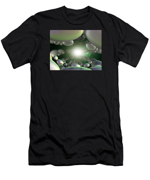 Men's T-Shirt (Slim Fit) featuring the digital art In A Galaxy Far Far Far Away by Melissa Messick