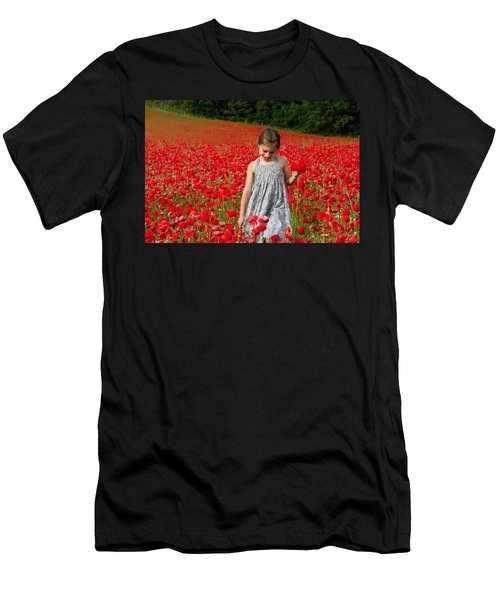In A Sea Of Poppies Men's T-Shirt (Athletic Fit)
