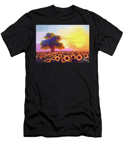 In Awe Of Sunflowers, Sunset Fields Men's T-Shirt (Athletic Fit)