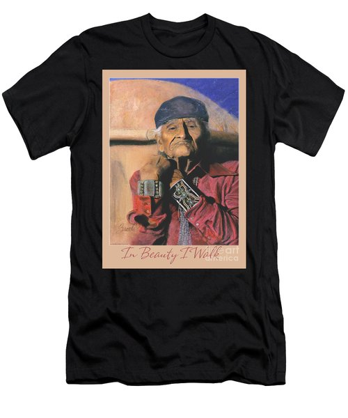 In Beauty I Walk 2 - Pastel Art - Native American Men's T-Shirt (Athletic Fit)